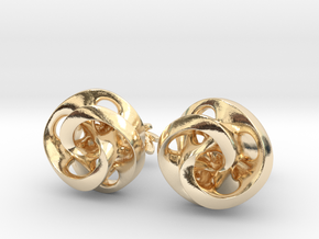 Mobius Cufflinks in 14k Gold Plated Brass