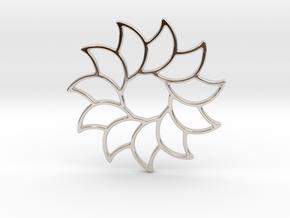 Dreamcatcher - Sunflower  in Rhodium Plated Brass