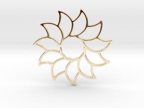 Dreamcatcher - Sunflower  in 14k Gold Plated Brass