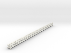 P-165stw-short-track-border-w-x24-1a in White Natural Versatile Plastic