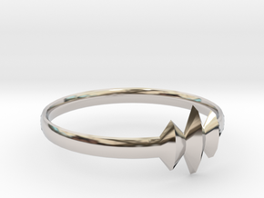 Elleve Ring US Size 8 UK Size Q in Rhodium Plated Brass