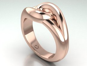 True lover's knot in 14k Rose Gold Plated Brass
