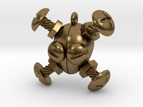 Bolts & Screws - Jolly Roger Trinket in Natural Bronze