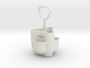The pencil vase in White Natural Versatile Plastic