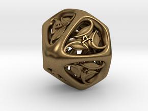 Tengwar Elvish D10 (Numbered 0-9) in Natural Bronze