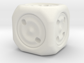 The dice in White Natural Versatile Plastic