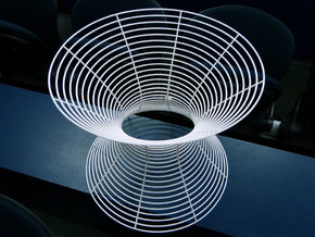 Hyperboloid of one sheet in White Strong & Flexible