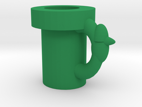 Super Mario Pipe Mug in Green Strong & Flexible Polished