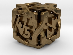 'Twined' Dice D6 Gaming Die Tarmogoyf P/T Version in Natural Bronze