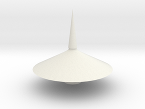 Spinning top PT v7  in White Natural Versatile Plastic