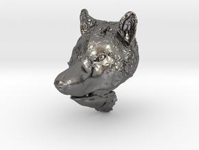 Pendant for ring(Wolf) in Polished Nickel Steel