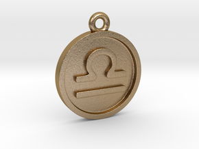 Libra/Waage Pendant in Polished Gold Steel