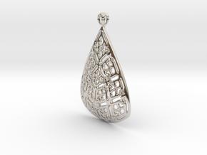 PA Pendant Ef002Se731U23H30a07 in Rhodium Plated Brass