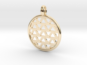 DRAW pendant - waves A in 14k Gold Plated Brass