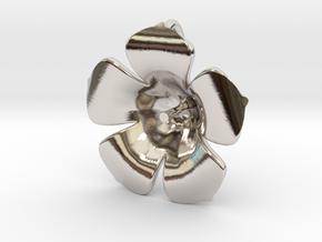 Lotus Pearl Pendant in Rhodium Plated Brass