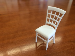 1:24 Window Back Chair in White Natural Versatile Plastic