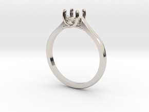 Solitaire in Rhodium Plated Brass