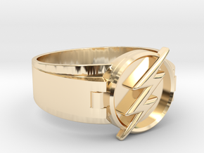 Flash Ring Size 12 21.49mm in 14k Gold Plated Brass