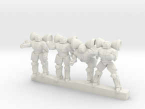 Shield Troopers 10mm in White Strong & Flexible