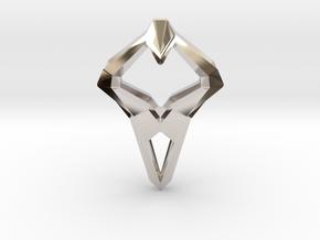 HEART TO HEART Sharpy, Pendant. Sharp Elegance in Rhodium Plated Brass