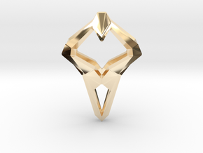 HEART TO HEART Sharpy, Pendant. Sharp Elegance in 14k Gold Plated Brass
