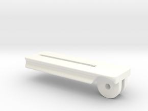 120mm Plate  for Tilting Palm Rest in White Processed Versatile Plastic