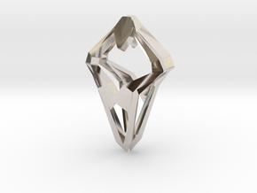 Prototype, Pendant. Sharp Chic in Rhodium Plated Brass