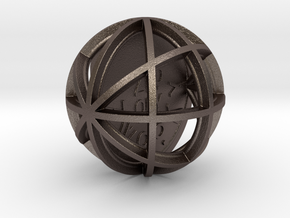 ZWOOKY Style 3405  -  Sphere in Polished Bronzed Silver Steel