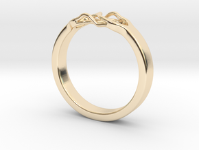 Roots Ring (18mm / 0,7inch inner diameter) in 14k Gold Plated Brass