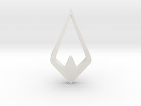 HIDDEN HEART Aurora, Pendant. Pure Elegance in White Natural Versatile Plastic
