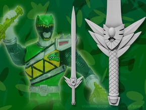 """Feather Edge Sword - 5"""" Figure version in White Strong & Flexible"""
