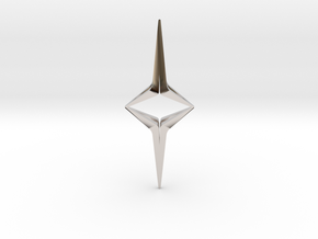 YOUNIVERSAL Sharp Duo, Pendant in Rhodium Plated Brass