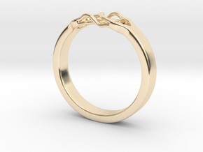 Roots Ring (19mm / 0,75inch inner diameter) in 14k Gold Plated Brass