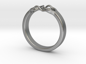 Roots Ring (21mm / 0,82inch inner diameter) in Natural Silver