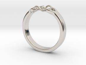 Roots Ring (23mm / 0,9inch inner diameter) in Platinum