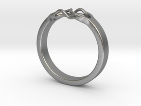 Roots Ring (23mm / 0,9inch inner diameter) in Natural Silver