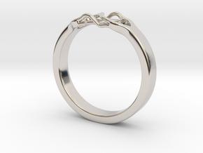 Roots Ring (24mm / 0,94inch inner diameter) in Platinum