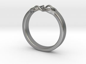 Roots Ring (25mm / 0,98inch inner diameter) in Natural Silver