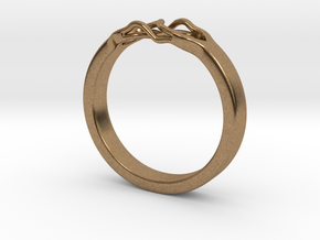 Roots Ring (28mm / 1,1inch inner diameter) in Natural Brass
