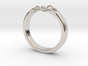 Roots Ring (29mm / 1,14inch inner diameter) in Rhodium Plated Brass