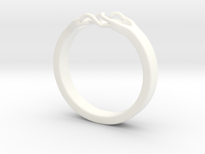 Roots Ring (20mm / 0,78inch inner diameter) in White Processed Versatile Plastic