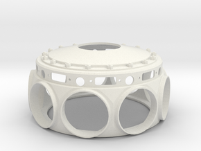 Le Rhone- 80hp - Crank Case - 1:4 Scale in White Strong & Flexible