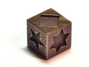 Polygon Dice in Polished Bronze Steel
