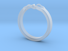 Roots Ring (28mm / 1,1inch inner diameter) in Smooth Fine Detail Plastic