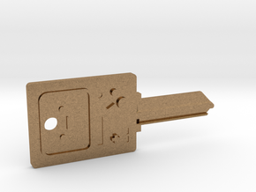 BMO House Key Blank - KW1/66 in Natural Brass
