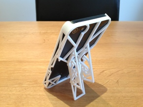 iPhone 5 Case with Flip Out Stands - TriStand Mini in White Natural Versatile Plastic