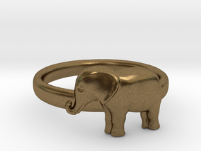 Elephant Ring in Natural Bronze