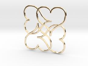 Heart Earring or Pendant in 14k Gold Plated Brass