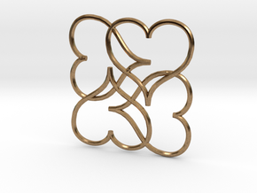Heart Earring or Pendant in Natural Brass