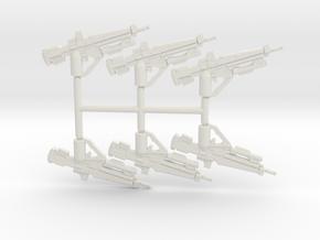 Hunter Battle Rifle Pack in White Natural Versatile Plastic
